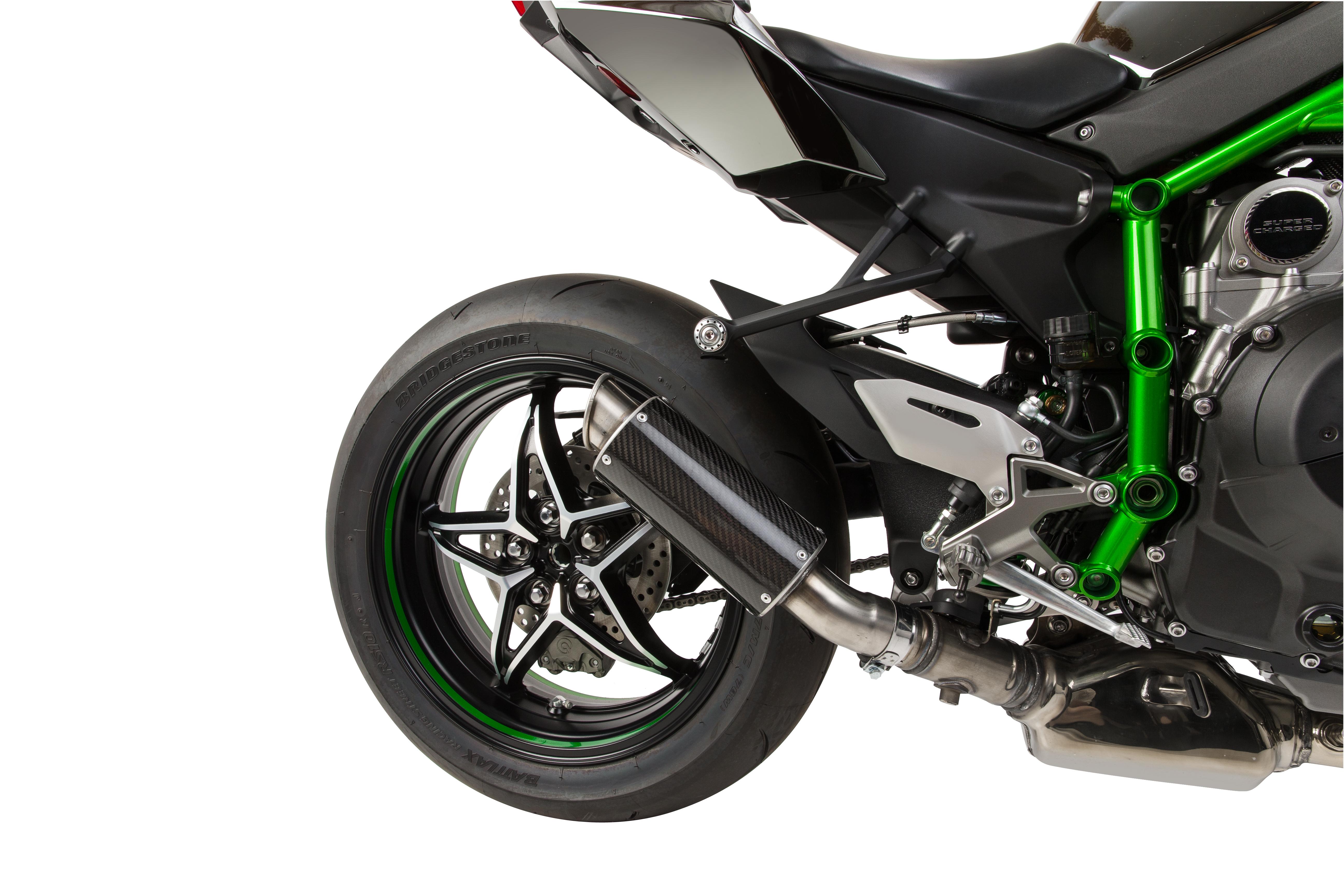 Hotbodies MGP Exhaust Slip On Carbon Fiber Canister 2015 Kawasaki Ninja H2