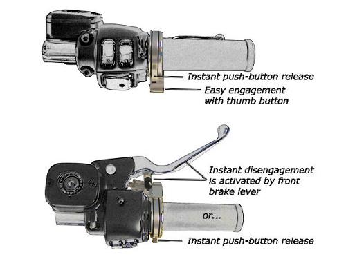 Brakeaway Motorcycle Cruise Control