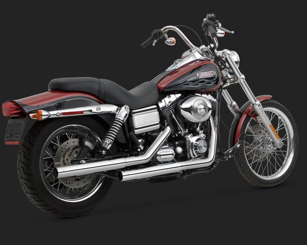 Vance & Hines Straightshots HS Slip-Ons Exhaust Chrome ...