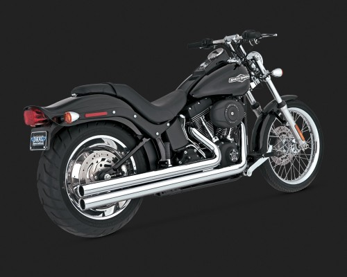 Harley Davidson Windshields >> Vance & Hines Big Shots Long Exhaust Chrome Harley ...