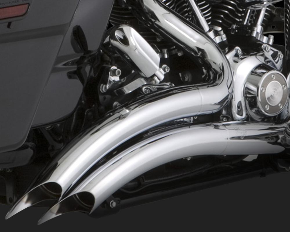 Vance & Hines Big Radius 2 into 2 Exhaust Chrome Harley Davidson Touring  1999-2006