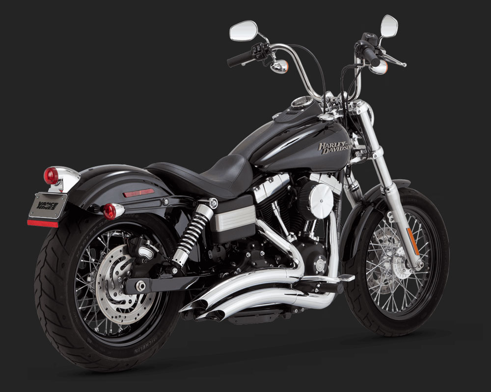 vance hines big radius 2 into 2 exhaust chrome harley. Black Bedroom Furniture Sets. Home Design Ideas