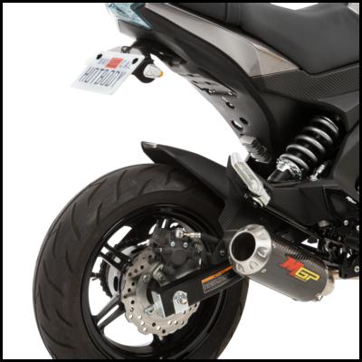 MGP Exhaust Full System - Stainless Kawasaki Z125 2016-2017