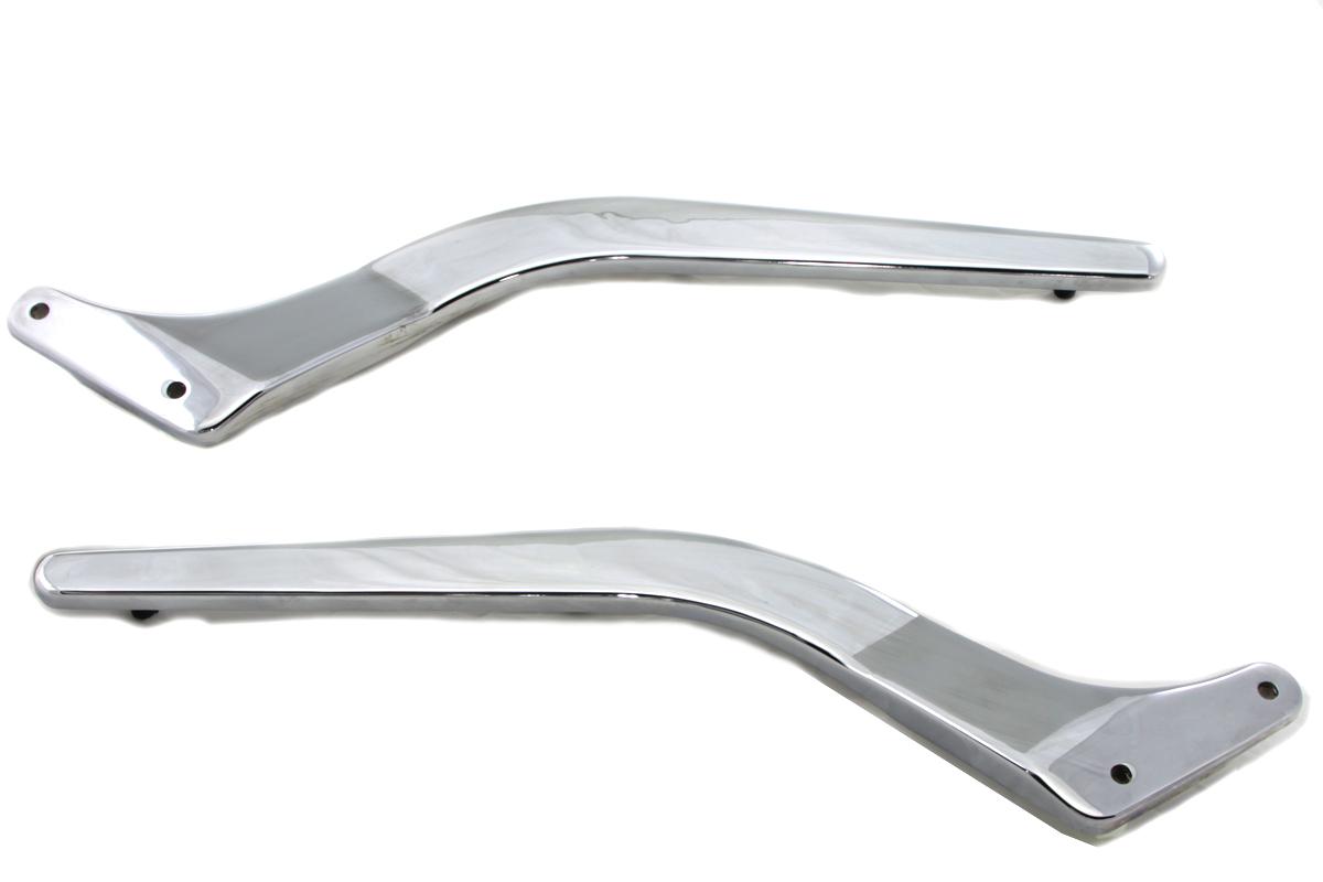 Rear Fender Strut Set Smooth Chrome for Harley Davidson by V-Twin